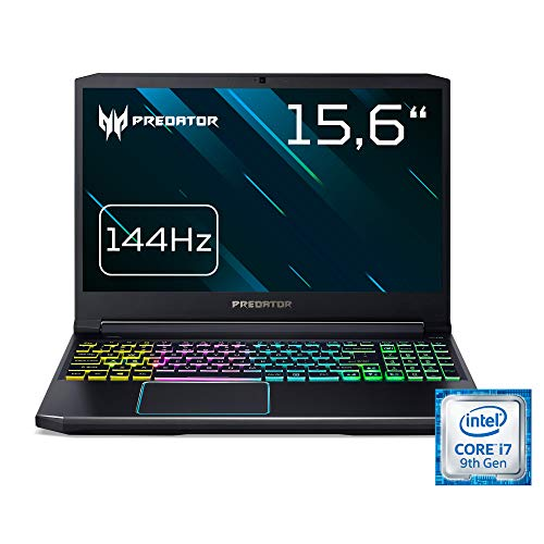 Acer Predator Helios 300 (PH315-52-79TY) 39,6 cm (15,6 Zoll Full-HD IPS matt) Gaming Laptop (Intel Core i7-9750H, 8GB RAM, 512GB PCIe SSD, NVIDIA GeForce GTX 1660Ti, Win 10 Home) schwarz/blau