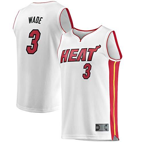 Wade # 3 transpirable ocio Dwyane baloncesto Miami baloncesto calor casa Jersey retro baloncesto Jersey chaleco moda ropa deportiva blanca