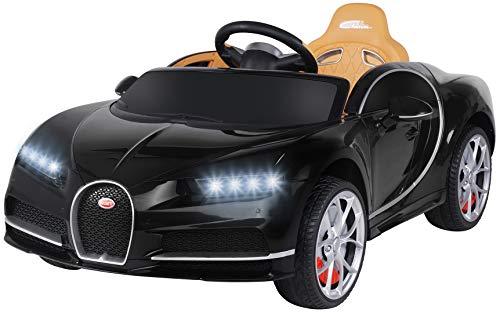 Actionbikes Motors Kinder Elektroauto Bugatti - Lizenziert - Vollgummireifen - 2,4 Ghz Fernbedienung - Elektroauto für Kinder ab 3 Jahre (Schwarz)