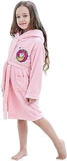 Unisex Children's Flannel Unicorn Bathrobes Hoodie Gifts for Girls