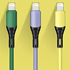 【Apple MFi Certified Lightning Cable】: Certified by MFI and built with Apple's original C48 terminal and smart chip. Original 8 Pin connector with a lightning end, ensured safe charging for your Apple devices. Enjoy fast data transfer, syncing and ch...