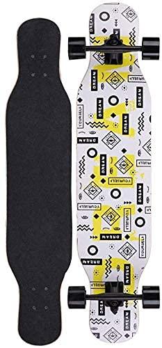 LITINGT Patineta Freestyle Longboard de 42 Pulgadas con Pedales Tablas Freestyle 7 Capas Ultraligeras Completas para Cruising, Carving, Free-Style, Downhill y Dancing
