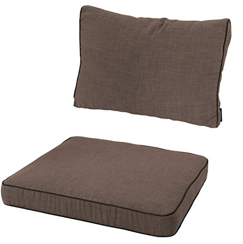 Mad 2-teiliges 12 cm Loungekissen-Set Melange Premium Taupe Outdoor, Europe