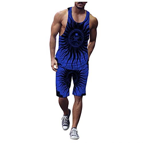 Corlidea Camiseta de tirantes para hombre con gráficos en 3D, sin mangas, divertida, para verano, camiseta muscular, camiseta de tirantes