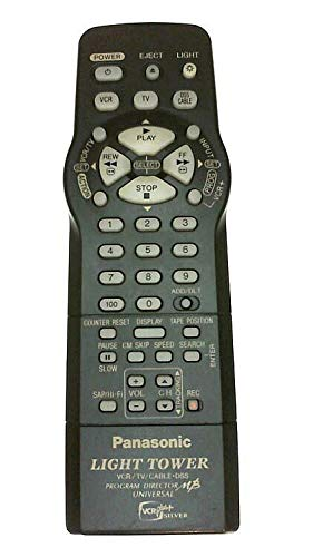 Panasonic Light Tower VCR/ TV/ Cable-DSS Multibrand Universal Programmable Remote with Program Director