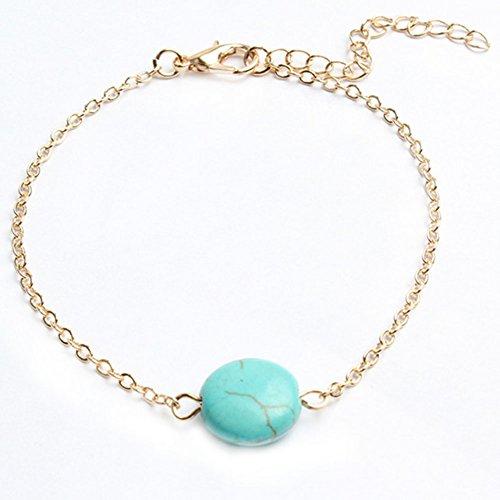 Doitsa Armband Mode Mädchen/Damen Schmuck Armbänder Gold Kette Türkis Armband Anhänger Armschmuck
