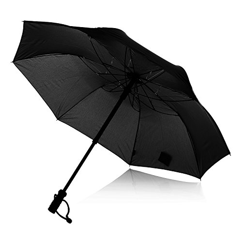 EuroSchirm teleScope handsfree Regenschirm schwarz 2017 Reisezubehör