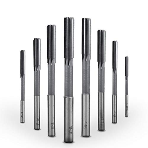 BUYGOO 8PCS HSS Maschinenreibahle Reibahle Fräser mit Zylinderschaft 3/4/5/6/7/8/9/10mm Hochgeschwindigkeitsstahl HSS 4 Flöte Gerade Fräser Tools Set
