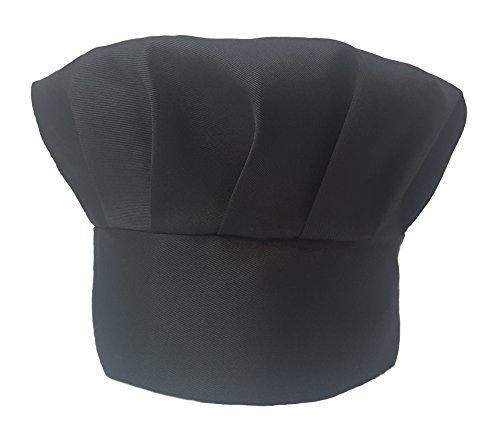 Obvious Chef - Black Chef Hat - Adjustable Fit - Adult (Black)