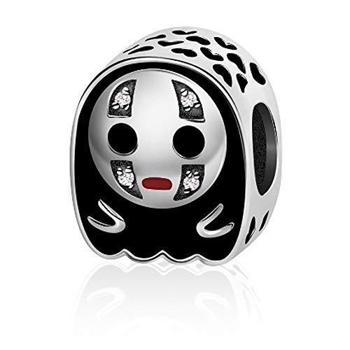 EvesCity Bolenvi - Abalorio de plata de ley 925 con diseño de anime para pulseras y collares