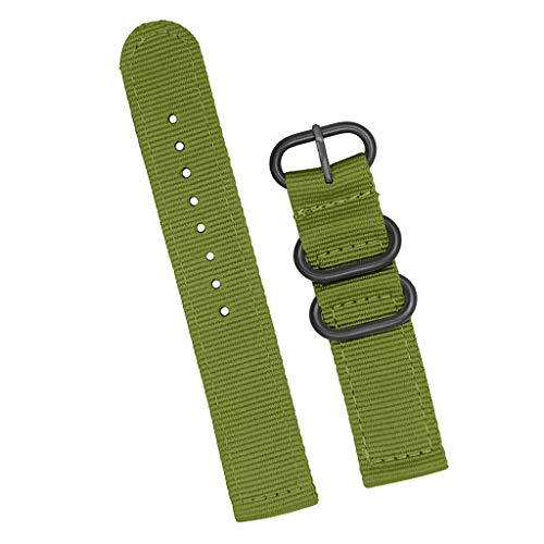 F Fityle Cinturino Orologio Sostituisce in Nylon Alluminio per Orologio da Polso Bracelet Unisex - Grigio 20mm