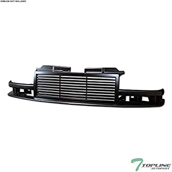 Topline Autopart Black Horizontal Front Hood Bumper Grill Grille ABS For 98-04 Chevy S10 Blazer / S10 Pickup
