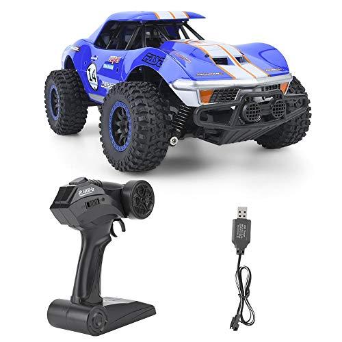 Caminhões de brinquedo, carro elétrico, carro de controle remoto, brinquedos para crianças com areia 1:14 2,4 GHz com tração em duas rodas, absorção de alta velocidade, carro RC(blue)
