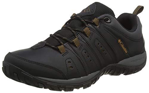 Columbia Woodburn II, Zapatilla Multideporte Hombres, Black (Black, Goldenrod 010), 41 EU