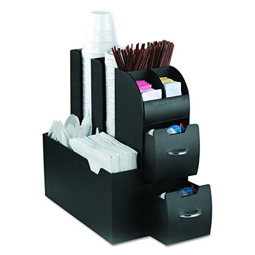 Mind Reader - Organizer per gli accessori e condimenti per il caffé 6 Black
