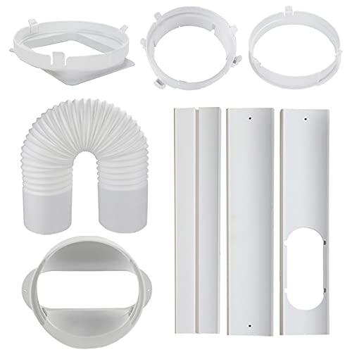 Kit di piastre di tenuta per finestra per condizionatore d'aria mobili per finestre scorrevoli in PVC portatile AC Window Kit di ventilazione finestra scorrevole per finestre