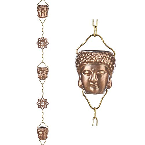 Good Directions 474P-8 Buddha Pure Copper 8.5 ft Rain Chain