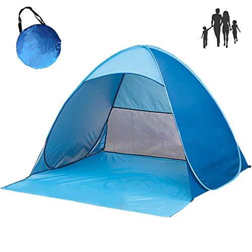 Monthyue 3~4 Personas Carpa Desplegable Carpa De Playa Ligera Anti-UV para Viajes Al Aire Libre En La Playa Toldo 78.7X47.2X51.1 Pulgadas Azul,B