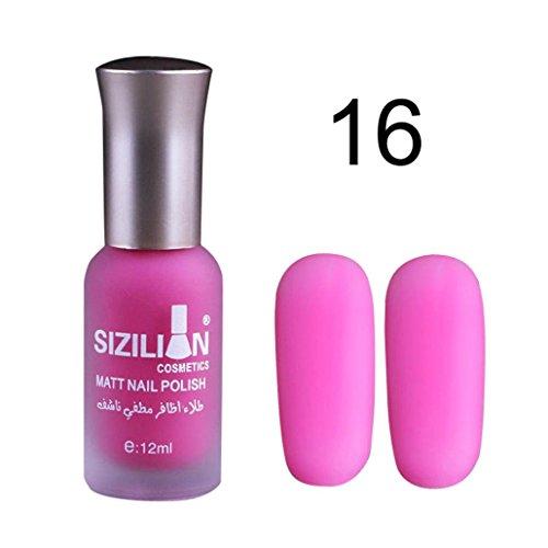 Vernis à ongle,Fulltime 12ML Vernis à ongles Mat Vernis à ongles Gel à ongles Vernis à Ongles Durable (#16)