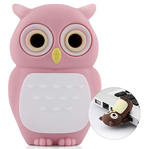 Bone Collection 8GB Owl USB Drive with Changeable Coat, Pink (D10021P)