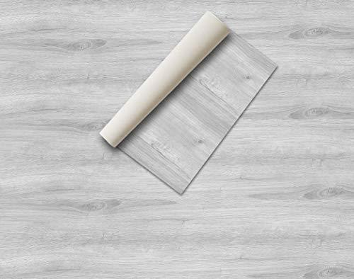Lámina adhesiva Madera y piedras , vinilo decorativo, lámina decorativa, aspecto real, lámina para muebles, vinilo decorativo (44 x 200 cm, Pino Gris)