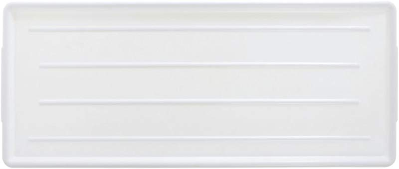 HUBERT Meat Case Tray Ribbed Rectangular White ABS Plastic Case Display Tray 30 L X 12 W X 3 4 H
