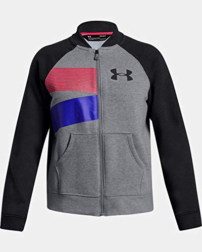 Under Armour UA Rival Fleece Bomber YMD Steel Light Heather