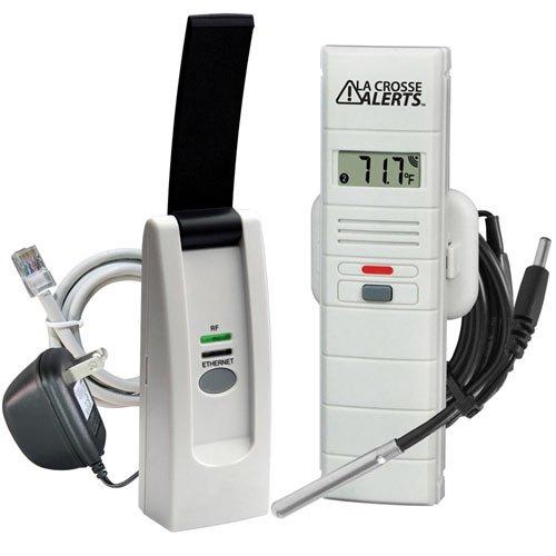 La Crosse Alerts Temperature Monitor & Alert Kit, Wet Probe (926-25102-WGB)