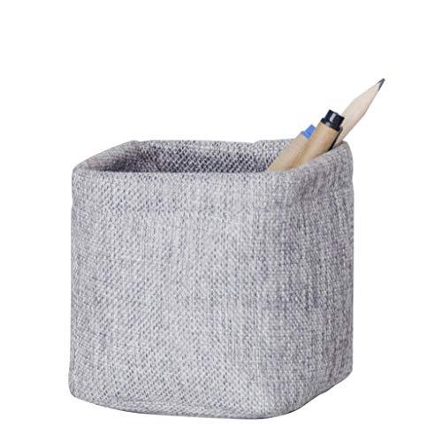 XINKONG Caja De Almacenamiento De Lino De Imitación Mini Trompeta De Almacenamiento De Tela Titular De La Pluma Caja De Almacenamiento De Clave Simple (Color : Gray)