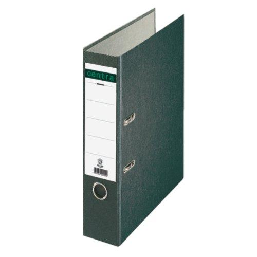 Centra 220105 Standard-Ordner (grauappe RC, mit Wolkenmarmor-Papier-Kaschierung, A4, 8 cm Rückenbreite) schwarz