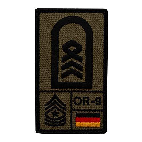 Café Viereck ® Oberstabsfeldwebel Bundeswehr Rank Patch mit Dienstgrad - Gestickt mit Klett – 9,8 cm x 5,6 cm