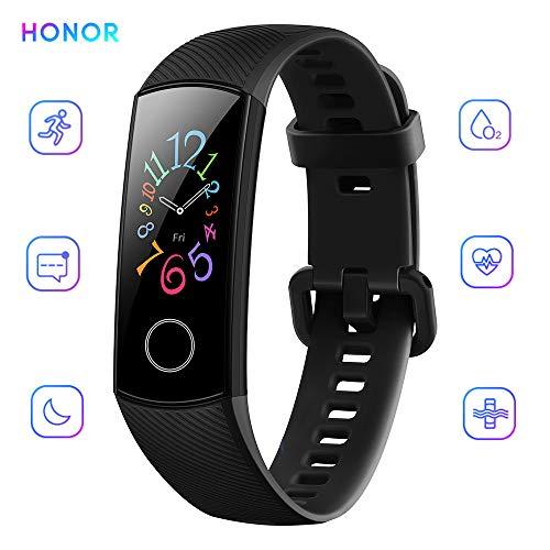 Honor Band 5 Activity Tracker 0,95' Schermo AMOLED a Colori 50M Waterproof Heart Rate Monitor Wristbands Bracelet per Diverse modalità Sportive (Nero)