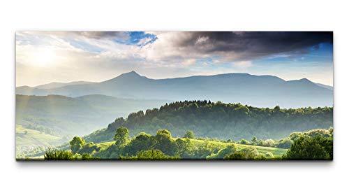 Wandbild Bepflanzte Berge 100x40cm