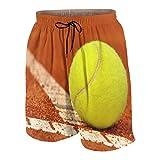 SUHOM De Los Hombres Casual Pantalones Cortos,Pelota de Teni