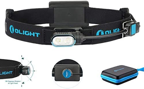 Olight Array Ultralight Rechargeable Headlamp Flashlight Two Cool White LED 180 Degrees Head product image
