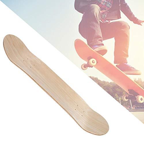 Sharainn Tabla Larga, Estabilidad Duradera, Doble balancín, Tabla de Skate, 7 Capas, Doble balancín, Tabla de Longboard, para niños y niñas Principiantes