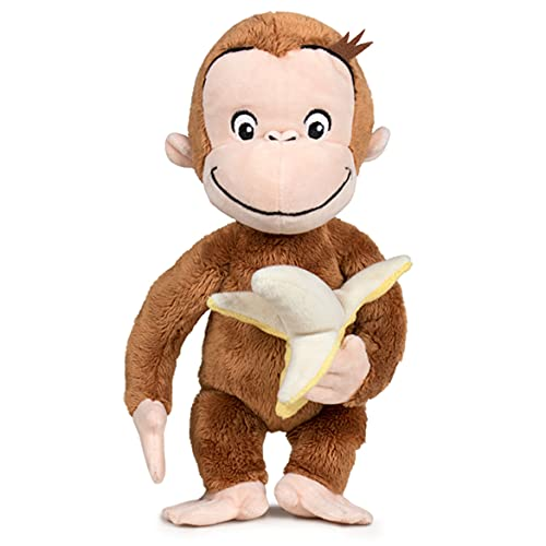 Play by Play Peluche Curioso Come George Scimmia con Banana in Mano Curious George - Marrone - 20cm