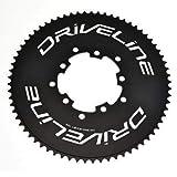 Driveline 69T AL7075 - Cadena para bicicleta de carretera TT 69T, BCD 110/130 mm, color negro,...
