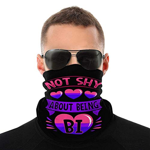 Nother Love Heart Bi Bisexual Bandera cortavientos, bandana lavable antipolvo, pasamontañas cara boca