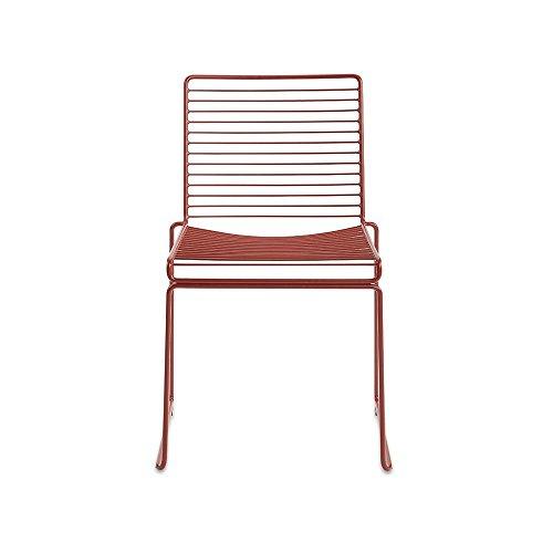 Hee Dining - Chaise rouge rouille/laqué/47.5x79x50cm/hauteur d'assise: 47cm/pour intérieur et extérieur