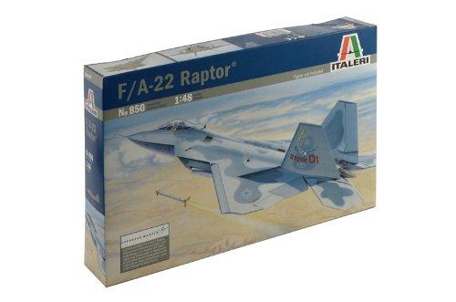 Italeri 510000850 - 1:48 F-22 Raptor Flugzeug
