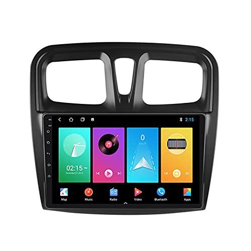 MGYQ 9'' Autoradio Bluetooth Radio De Coche con GPS FM Cámara De Visión Trasera para Renault Logan 2 2014-2019 Apoyo Carplay Control del Volante DSP RDS 1080P Video 4G LTE,M150s