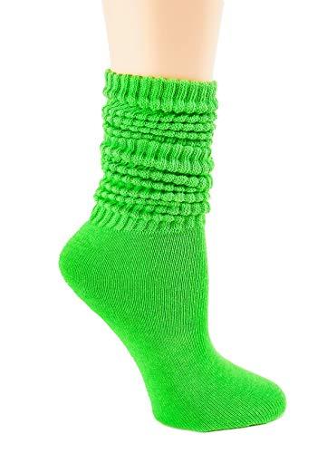 Slouch Socks Lightweight Size 9-11 (Green, 1)