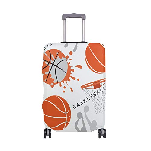 Let's Play Basketball Sport Game Luggage Cover Baggage Suitcase Travel Protector LGC-119 Size M