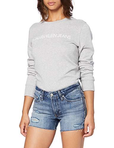 Calvin Klein Mid Rise Short Shorts, Blu (DA120 Light Blue DSTR RWH 1AA), 26W Donna
