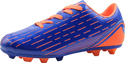 BomKinta Kid's FG Soccer Shoes Arch-SupportAthletic Outdoor Soccer Cleats Orange Size 13 M US Little Kid