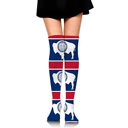 Calcetines hasta la rodilla I LOVE KPOP para mujer atlética sobre muslos largos