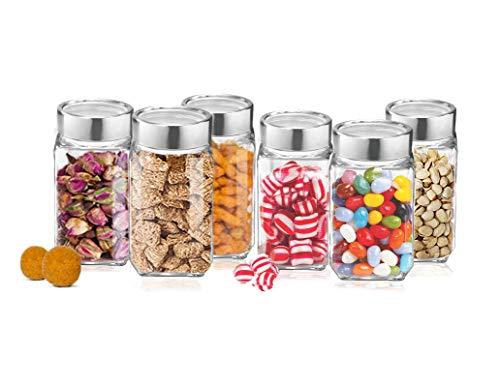 Treo Cube Jar 800ml Storage Container - Transparent , 6 Pcs Glassware