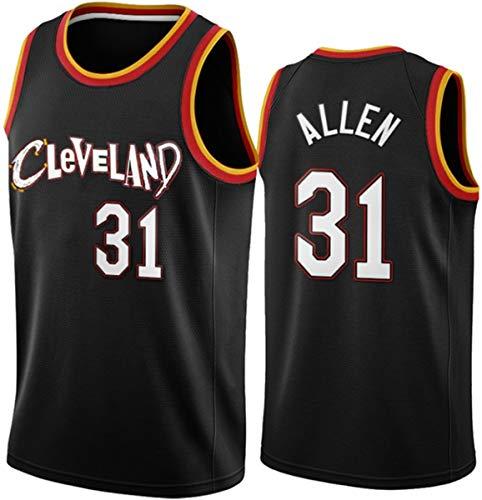 GIHI Camiseta De La NBA para Hombre, Nueva Temporada De 2021 Cleveland Cavaliers 31# Jerseys De Jarrett Allen,Ropa De Entrenamiento De Baloncesto De Malla Bordada Retro,XXL(185~190CM/95~110KG)