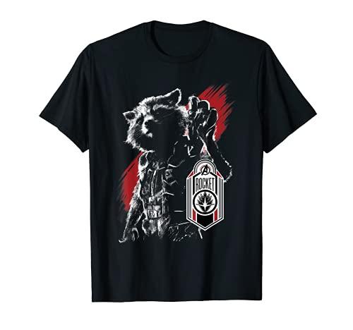 Marvel Avengers Endgame Rocket Portrait Graphic T-Shirt
